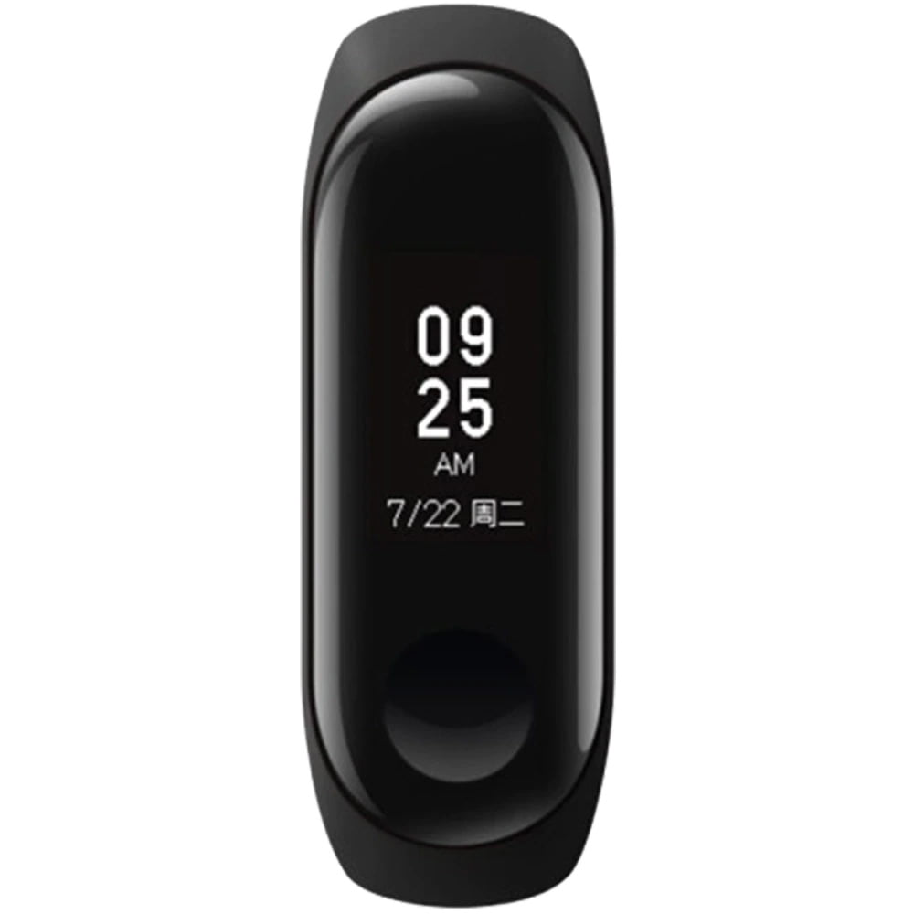 Bratara fitness Xiaomi Mi Band 3, HR, Silicon, Black