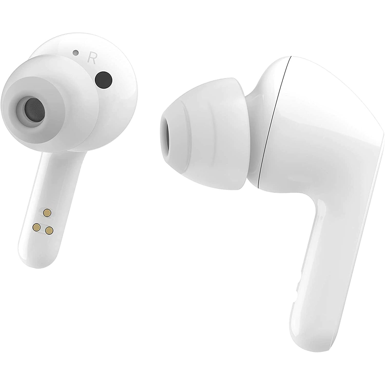 Casti In-Ear LG Earbuds Tone Free HBS-FN6, Wireless, Carcasa de incarcare, Curatare UVnano, Meridian Audio, White