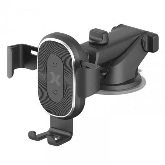 Suport auto de telefon cu incarcare wireless Maxcom, Gravity Induction, 10W, Black