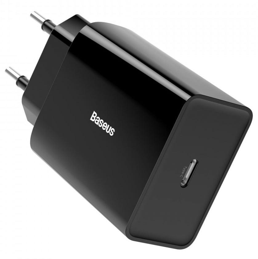 Incarcator retea Baseus Speed Mini PD Single, Quick Charge 18W, Type-C, Black