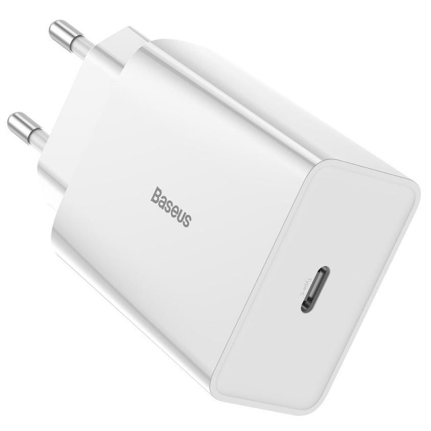 Incarcator retea Baseus Speed Mini PD Single, Quick Charge 18W, Type-C, White