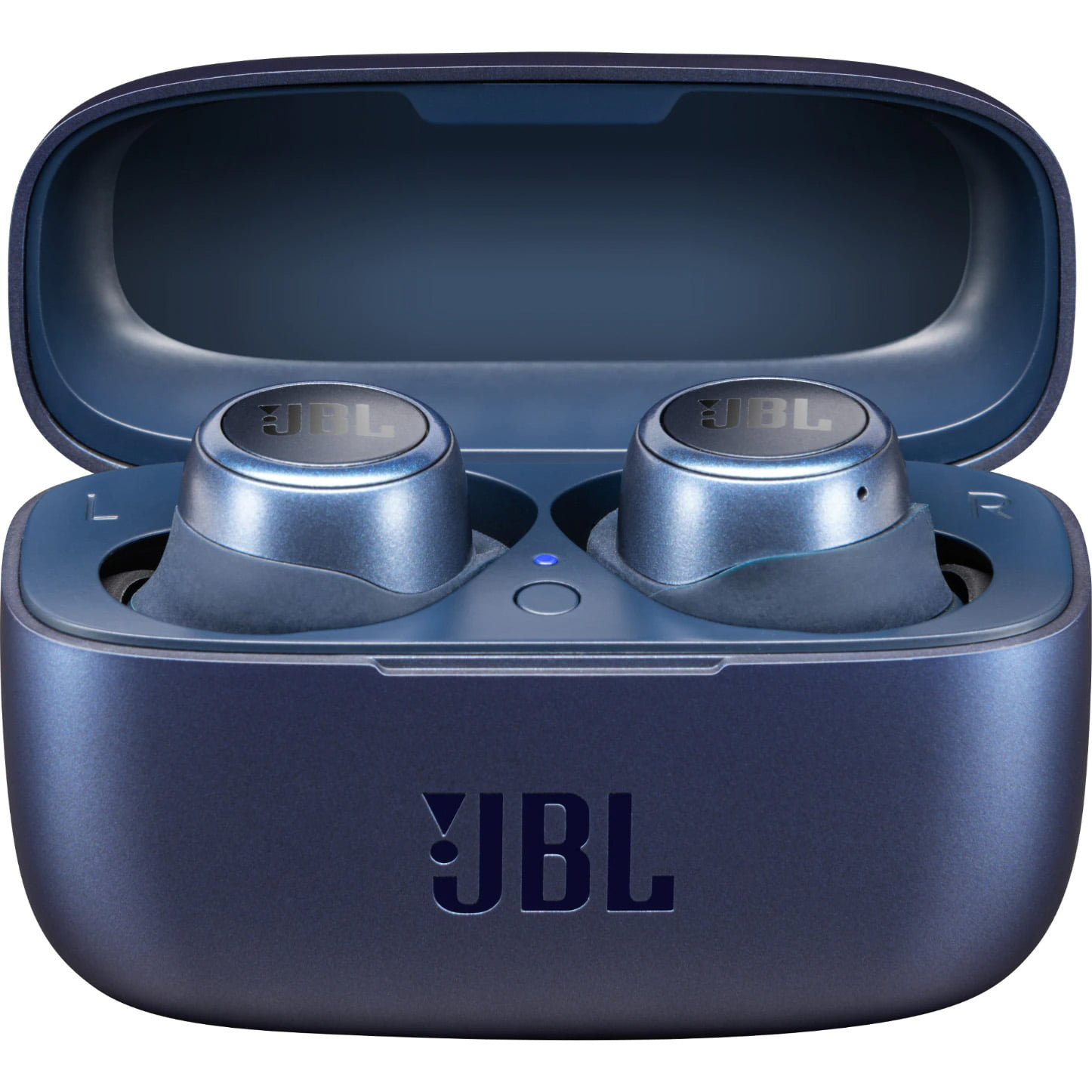 Casti In-Ear JBL Live 300 TWS, JBL Signature Sound, Ambient Aware, Bluetooth Wireless, Carcasa de incarcare, Blue