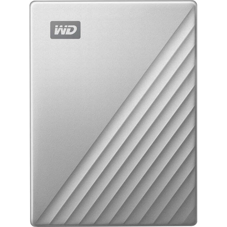 "HDD extern Western Digital My Passport Ultra for Mac, 5TB, 2.5"", USB 3.1, Silver"