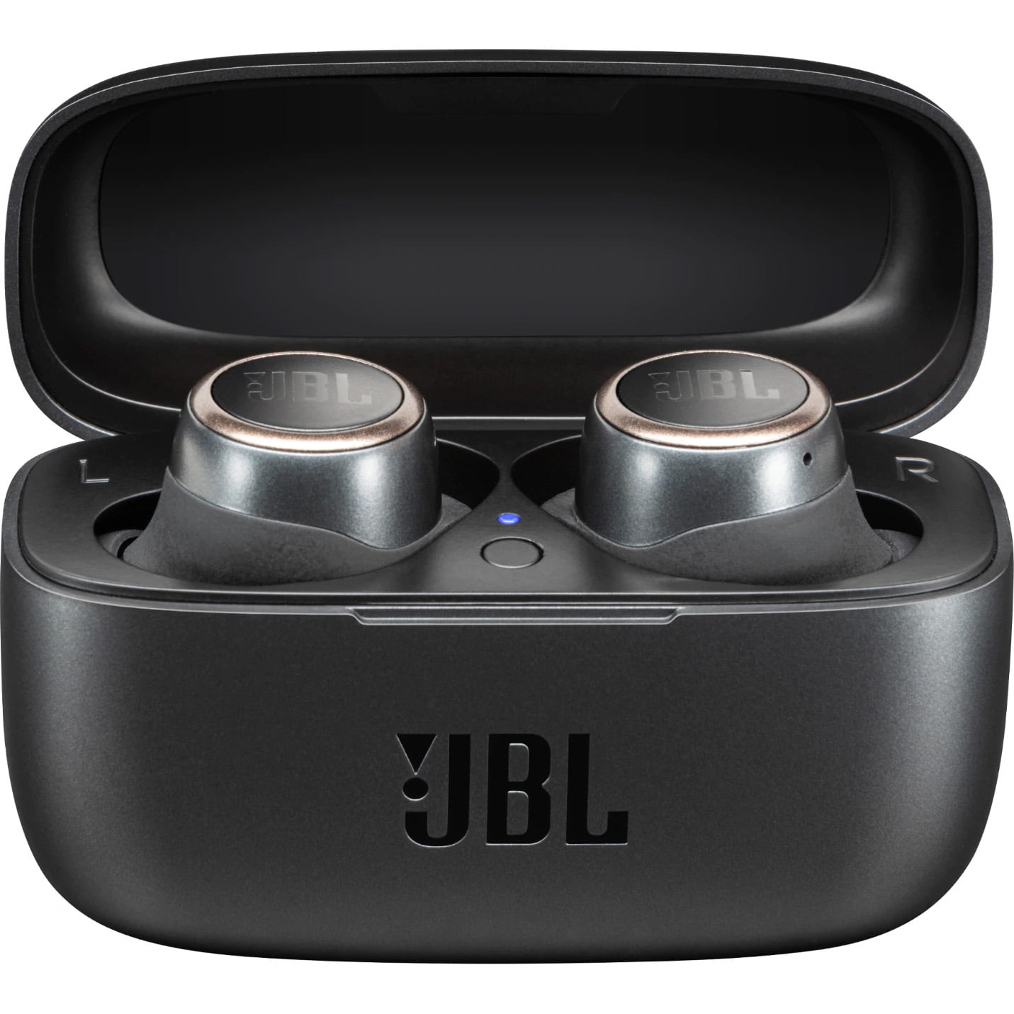 Casti In-Ear JBL Live 300 TWS, JBL Signature Sound, Ambient Aware, Bluetooth Wireless, Carcasa de incarcare, Black