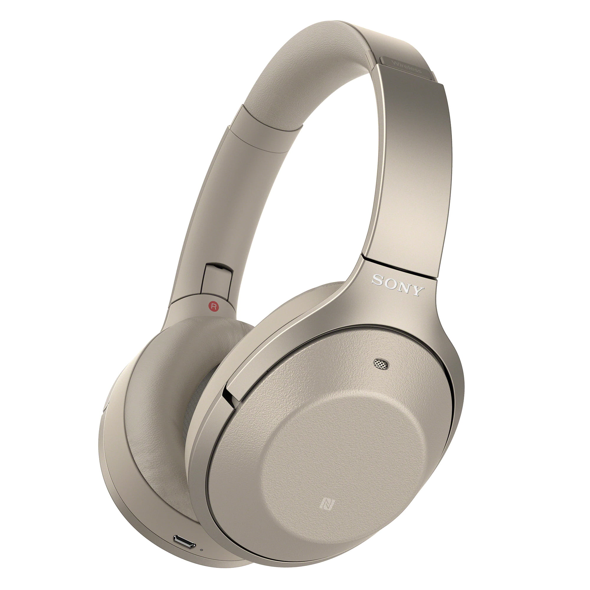 Casti On-ear Sony WH-1000XM2N, Noise cancelling, Hi-Res, Bluetooth, NFC, Wireless, Gold