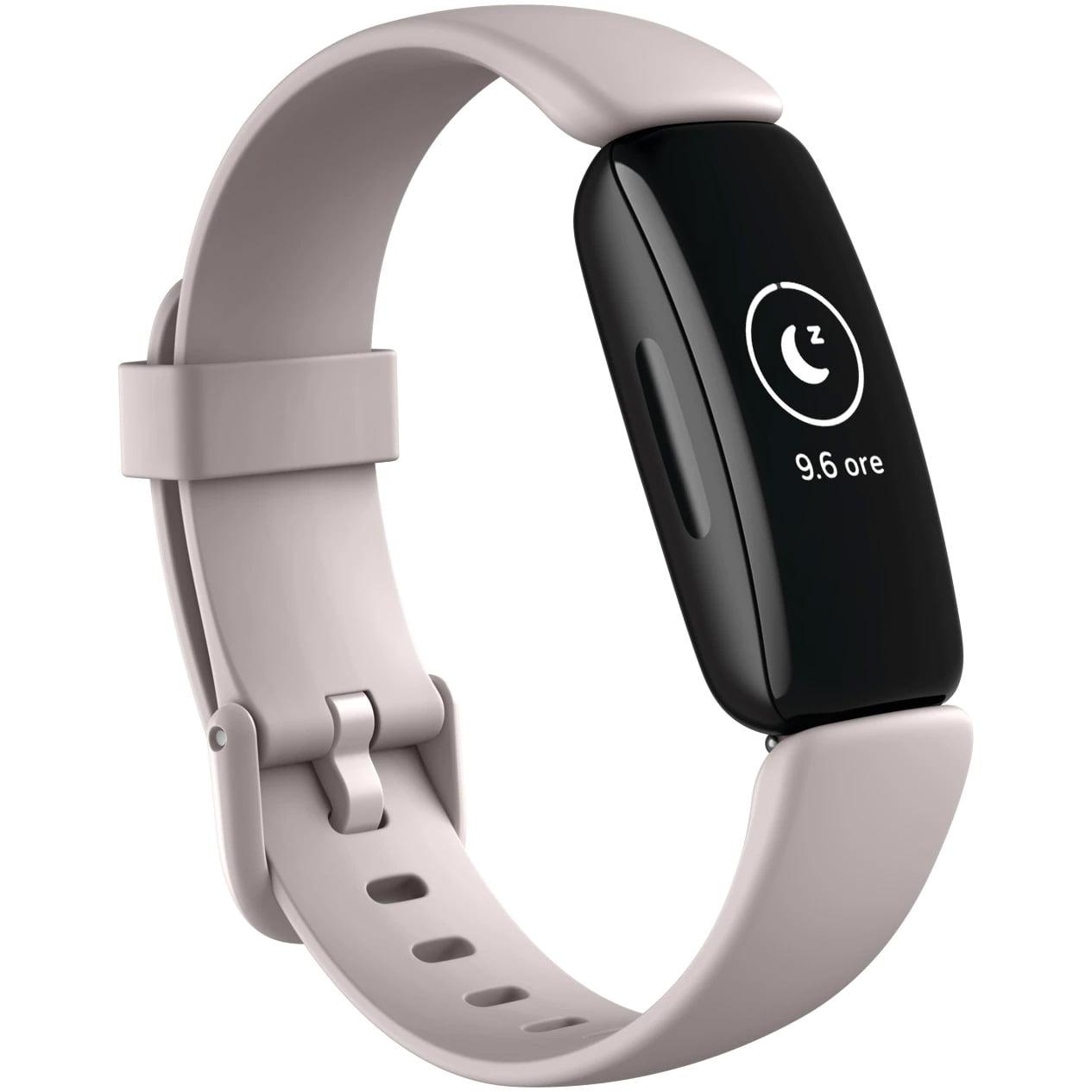 Bratara fitness Fitbit Inspire 2, Silicon, Black Aluminum, Lunar White