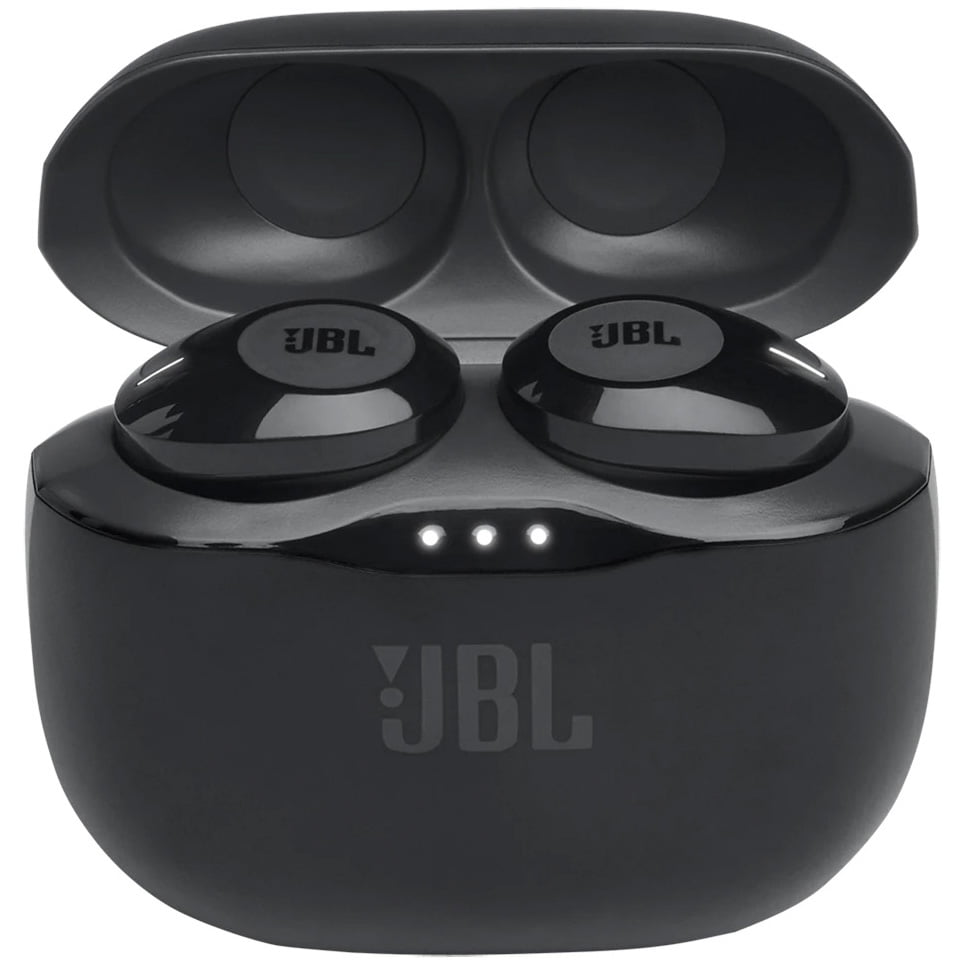 Casti In-Ear JBL Tune 120 TWS, JBL Pure Bass Sound, Bluetooth Wireless, Carcasa de incarcare, Black