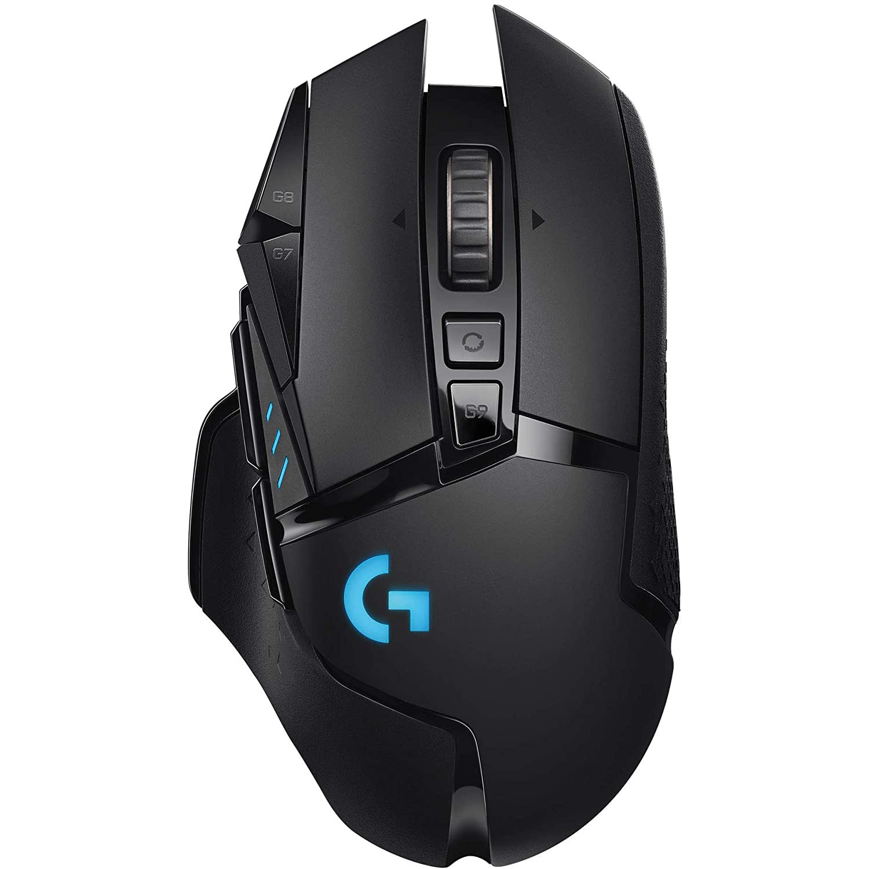 Mouse gaming Logitech G502, Wireless, LightSpeed Hero, 16K DPI, Lightsync RGB, Black