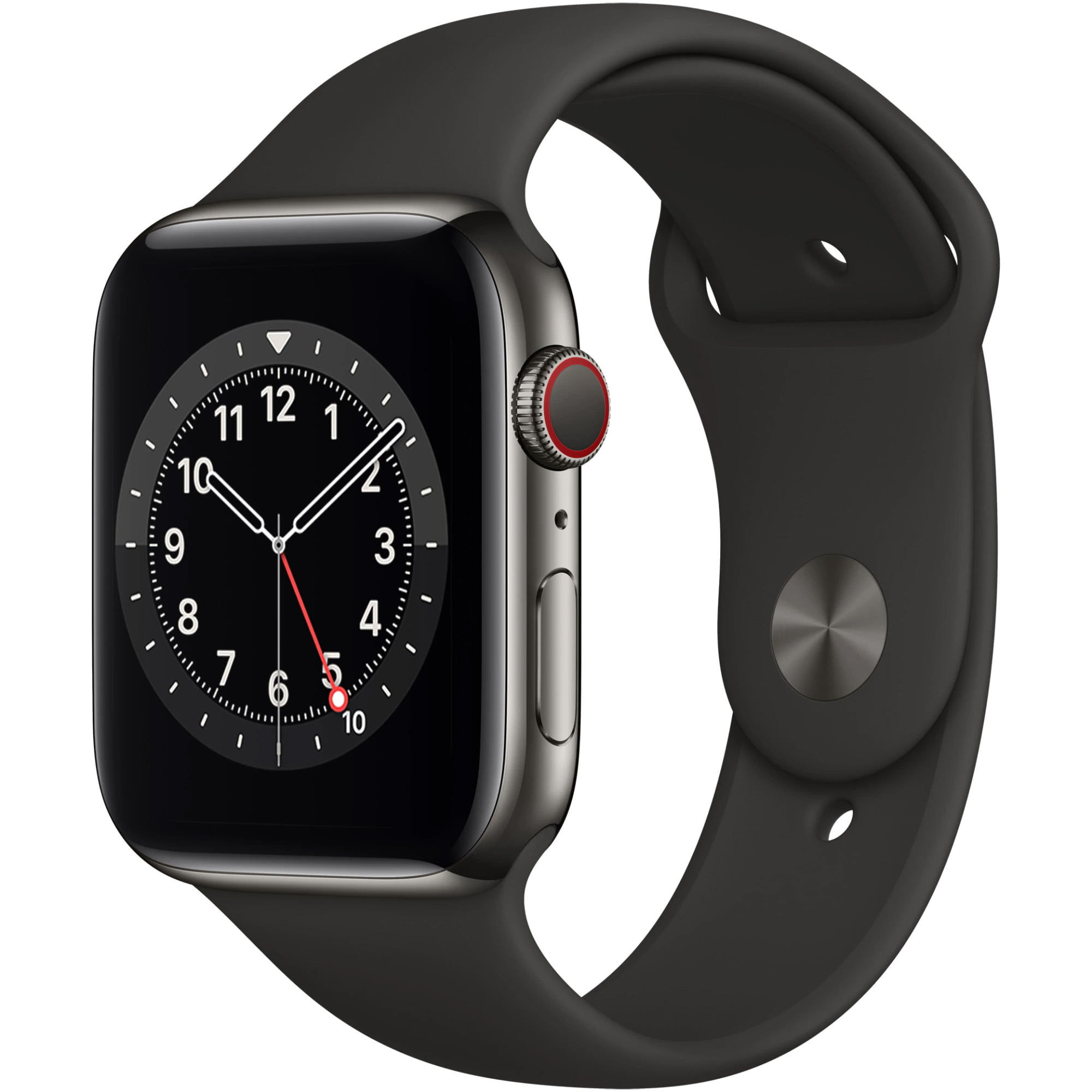 Ceas Smartwatch Apple Watch Series 6, GPS + Cellular, 40mm Space Grey Aluminium Case, Black Sport Band