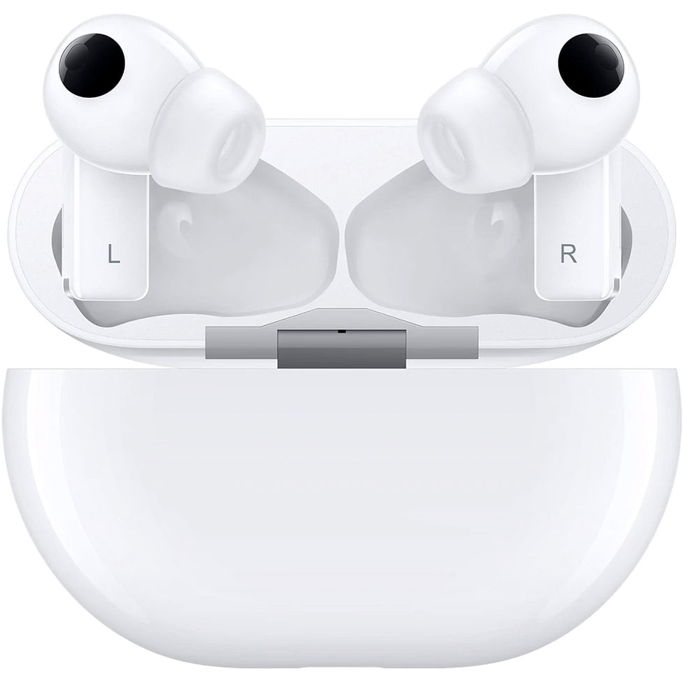 Casti In-Ear Huawei FreeBuds Pro, Bluetooth, Carcasa de incarcare portabila, Ceramic White