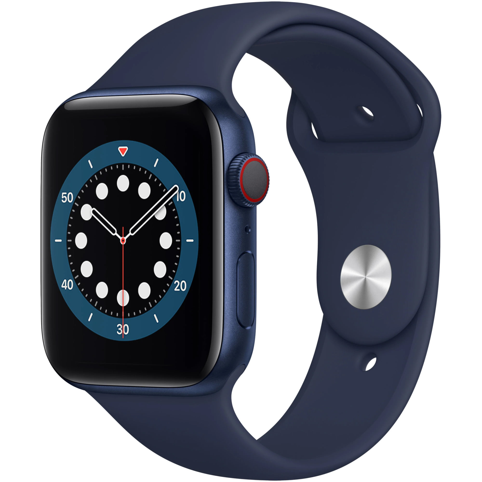 Ceas Smartwatch Apple Watch Series 6, GPS, 44mm Blue Aluminium Case, Deep Navy Sport Band