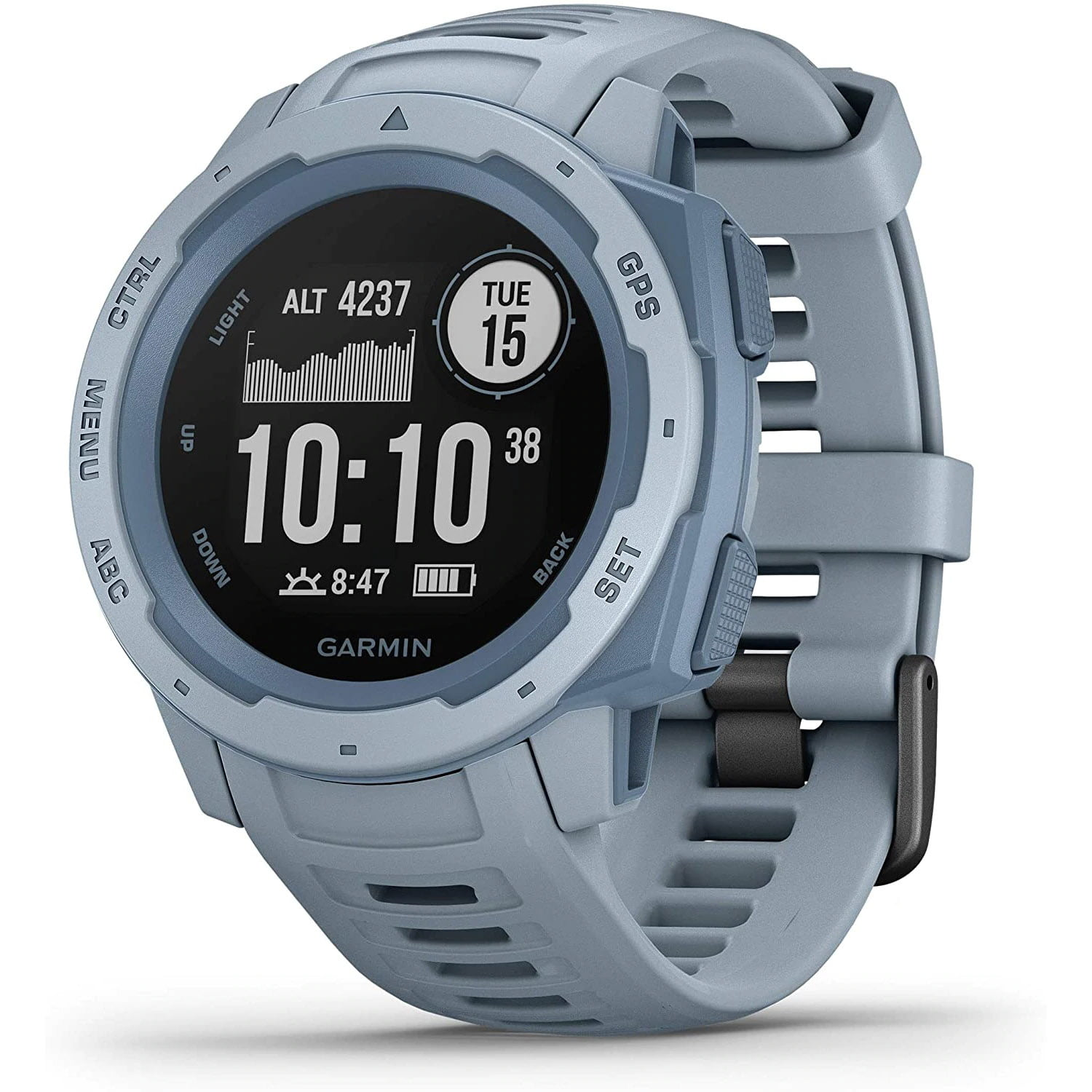 Ceas Smartwatch Garmin Instinct, 45 mm, HR, GPS, Sea Foam