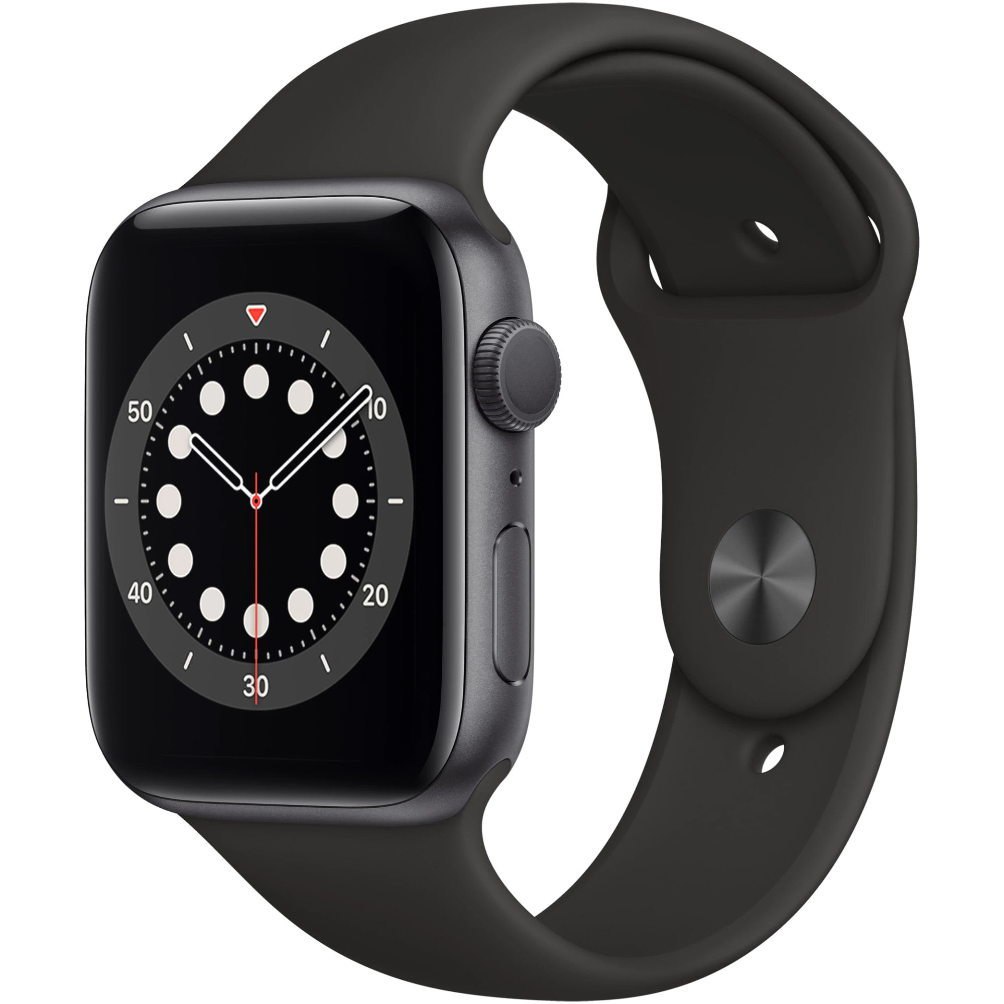 Ceas Smartwatch Apple Watch Series 6, GPS, 40mm Space Grey Aluminium Case, Black Sport Band