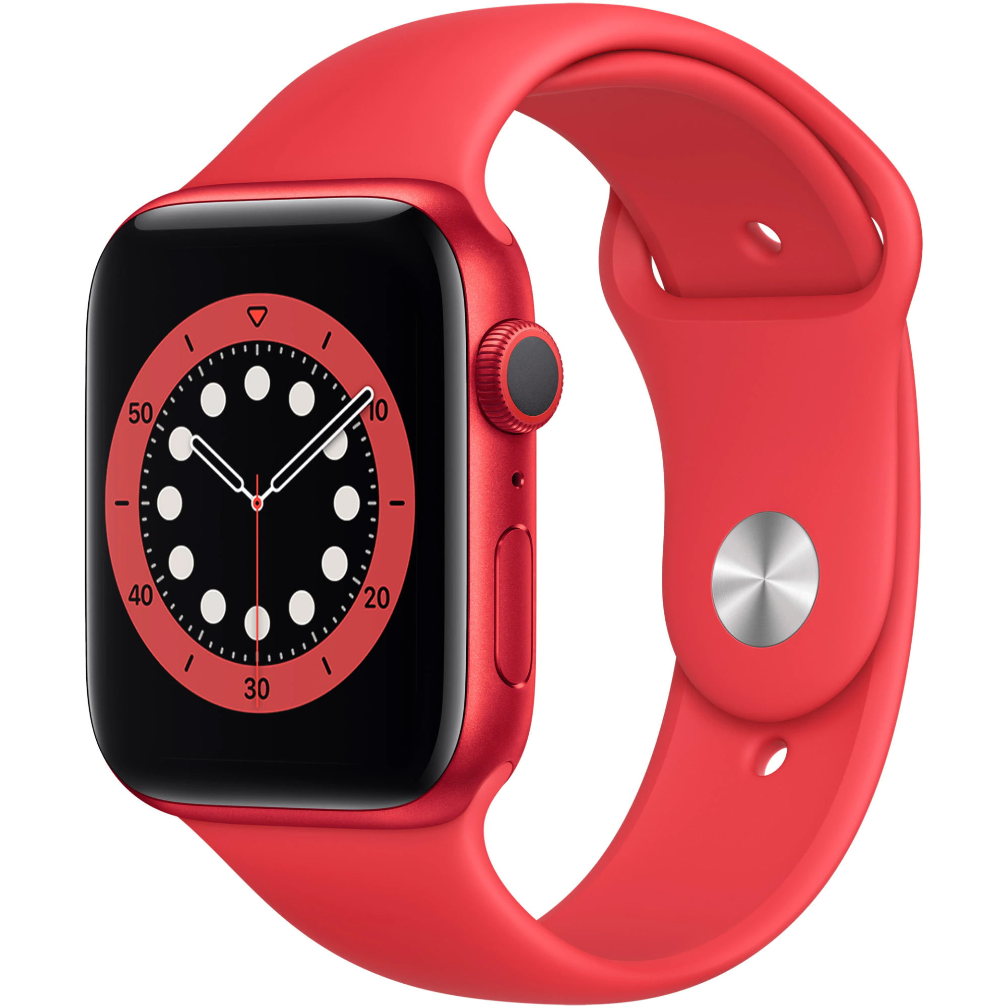 Ceas Smartwatch Apple Watch Series 6, GPS, 40mm Red Aluminium Case, Red Sport Band