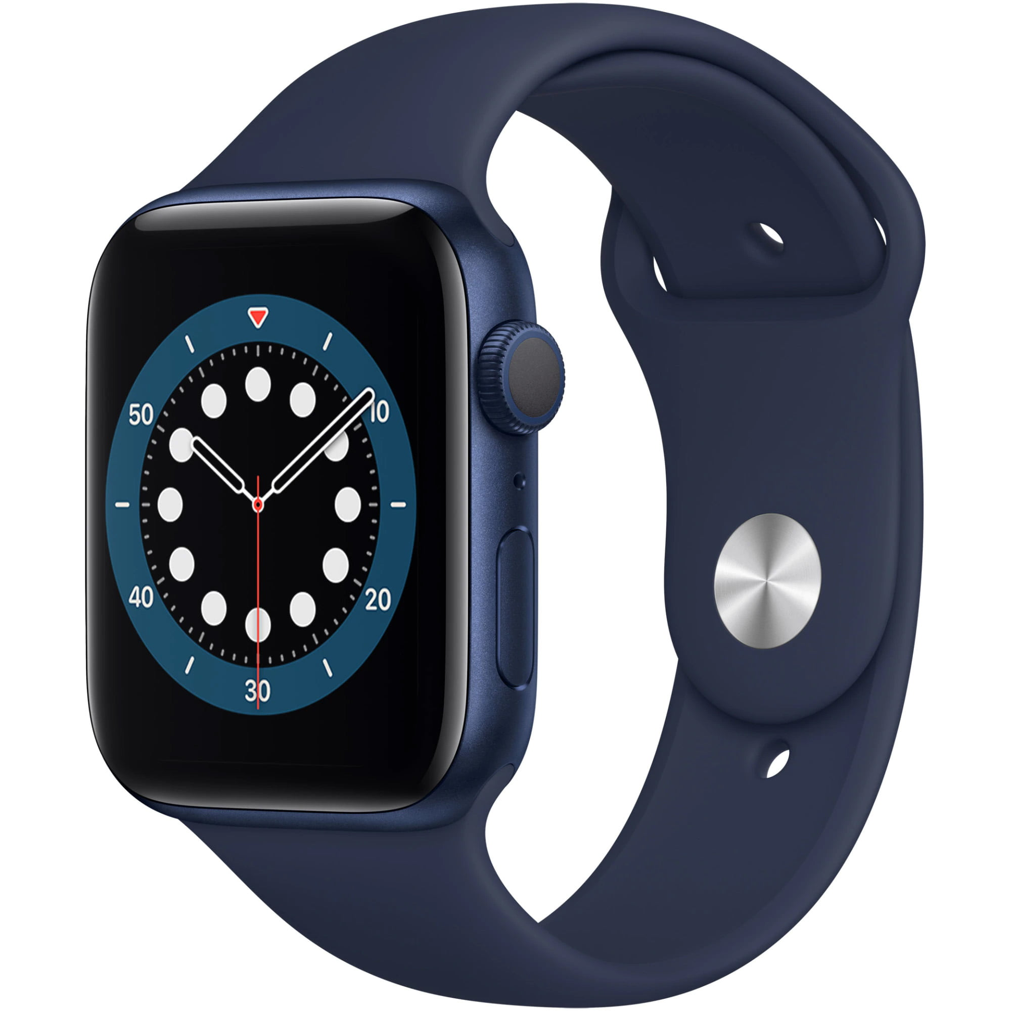 Ceas Smartwatch Apple Watch Series 6, GPS, 40mm Blue Aluminium Case, Deep Navy Sport Band