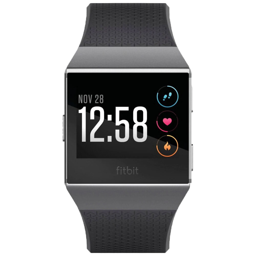 Ceas Smartwatch Fitbit Ionic, NFC, GPS, Silicon, Smoke Gray, Curea Charcoal