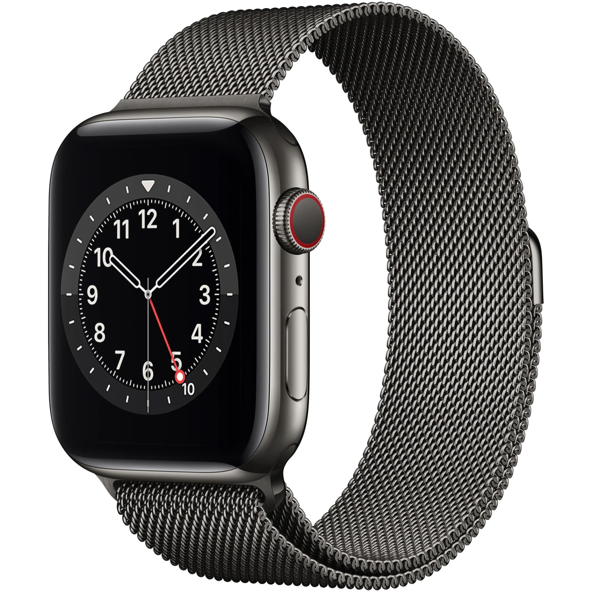 Ceas Smartwatch Apple Watch Series 6, GPS + Cellular, 44mm Graphite Stainless Steel Case, Graphite Milanese Loop