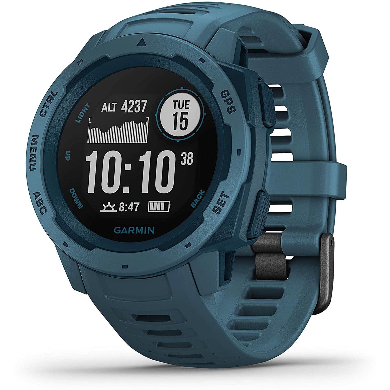 Ceas Smartwatch Garmin Instinct, 45 mm, HR, GPS, Lakeside Blue