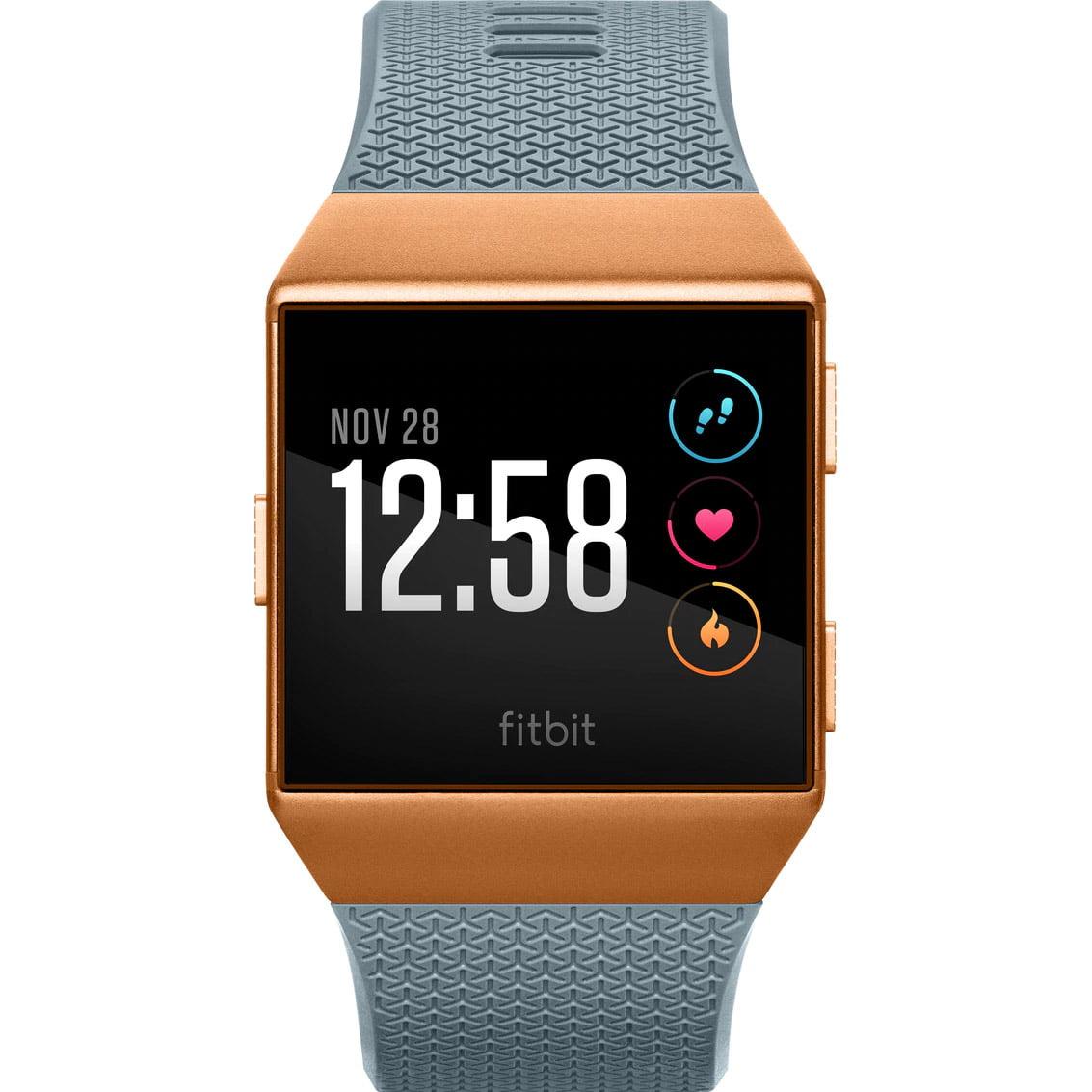 Ceas Smartwatch Fitbit Ionic, NFC, GPS, Silicon, Burnt Orange, Curea Slate Blue