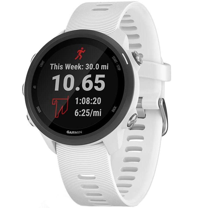 Ceas Smartwatch Forerunner 245 Music, 42 mm, GPS, White