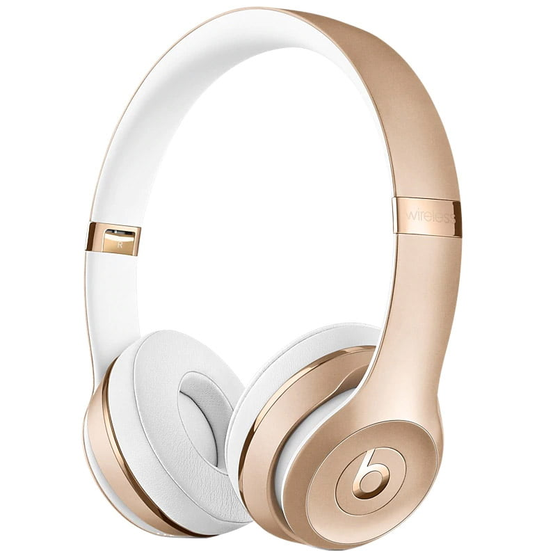 Casti audio On-The-Ear Beats Solo3, Wireless, Noise Cancelling, Gold