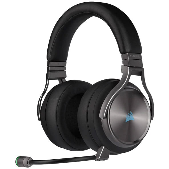 Casti audio Over-Ear Corsair Virtuoso SE, Iluminare RGB Gaming, Wireless, Gunmetal