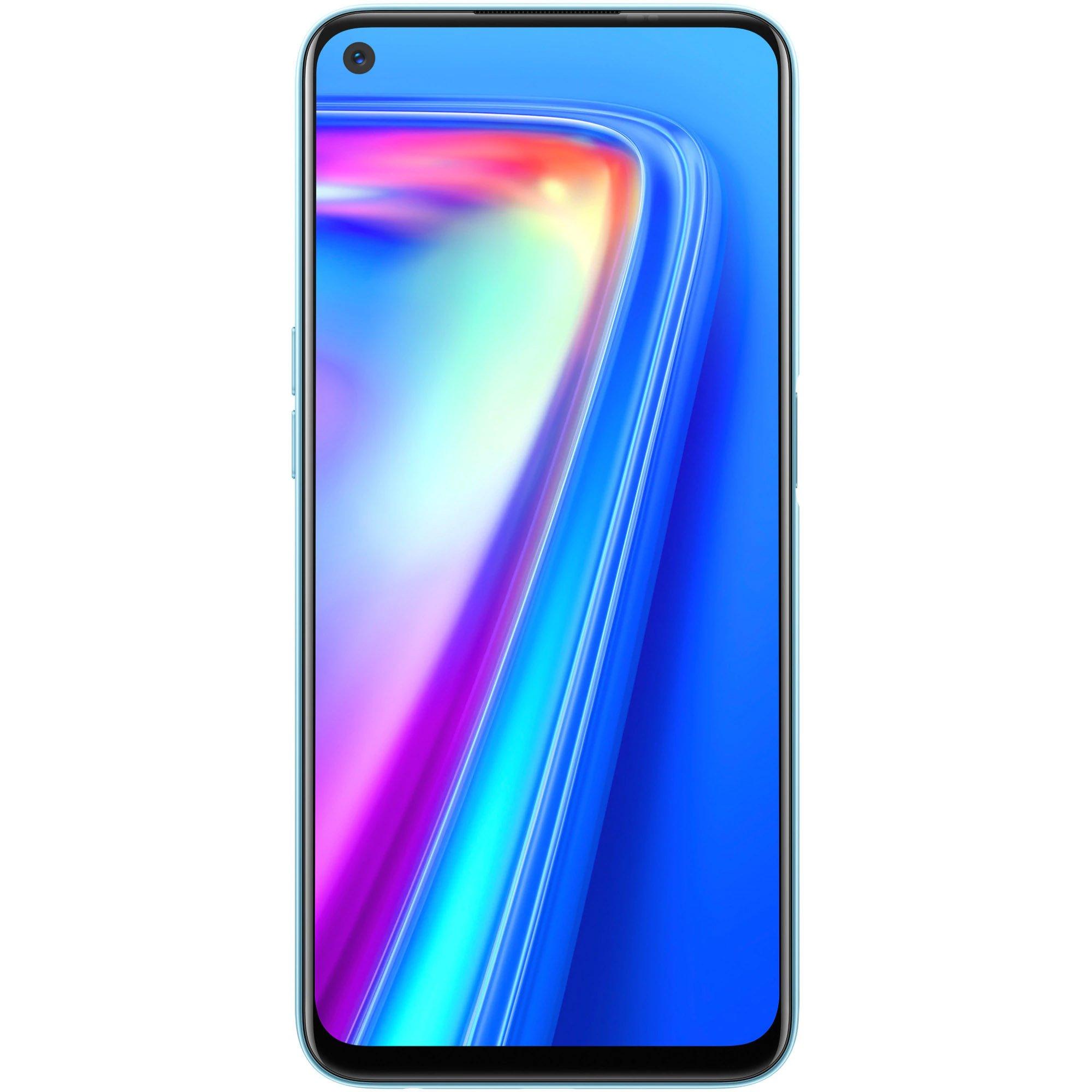 Telefon mobil Realme 7, Dual SIM, 64GB, 6GB RAM, 4G, Mist White