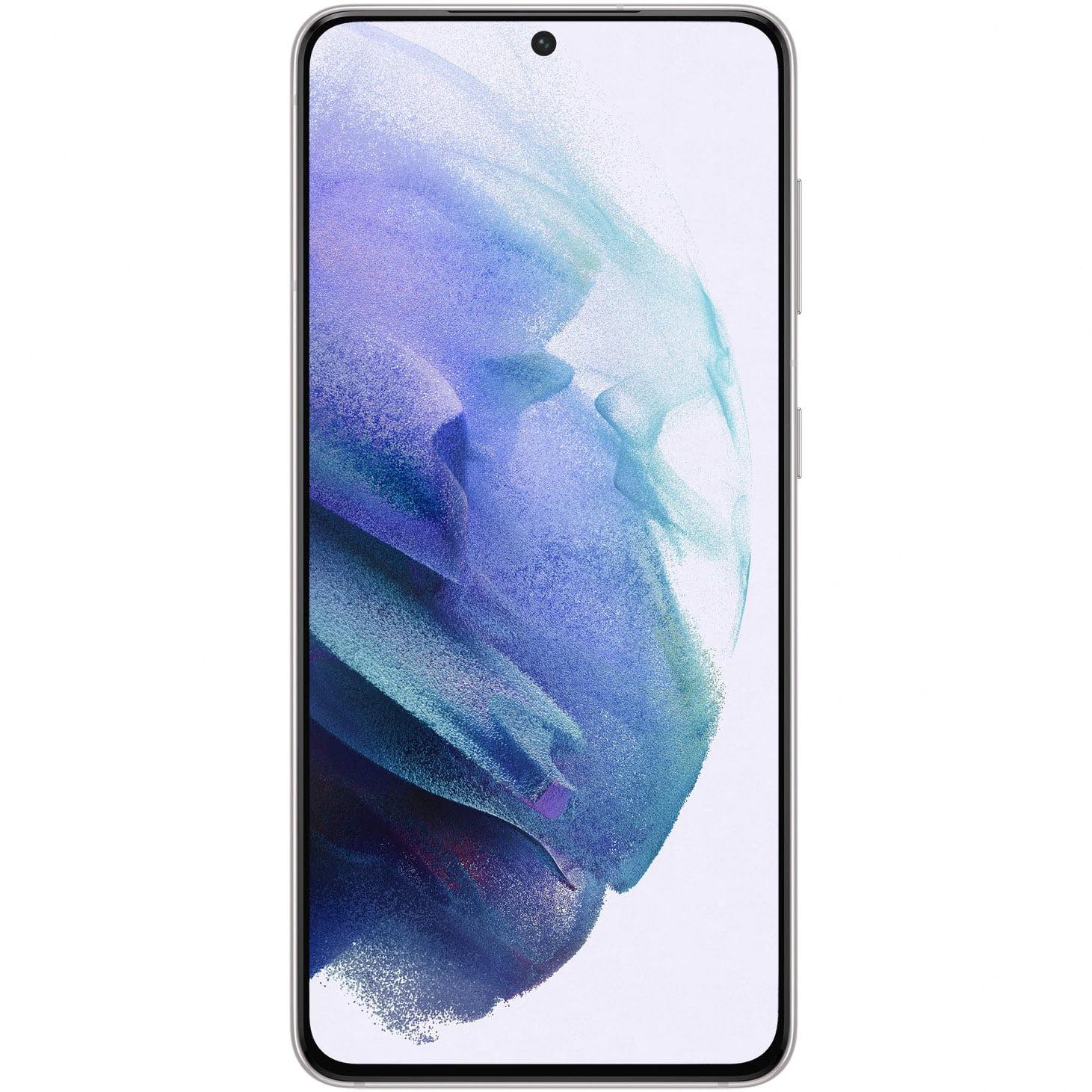 Telefon mobil Samsung Galaxy S21, Dual SIM, 256GB, 8GB RAM, 5G, Phantom White