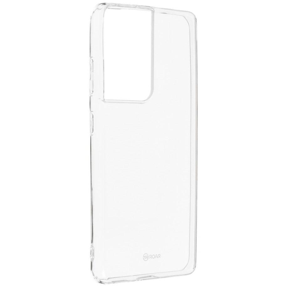 Husa Silicon Roar Jelly pentru Samsung Galaxy S21 Ultra, Transparent
