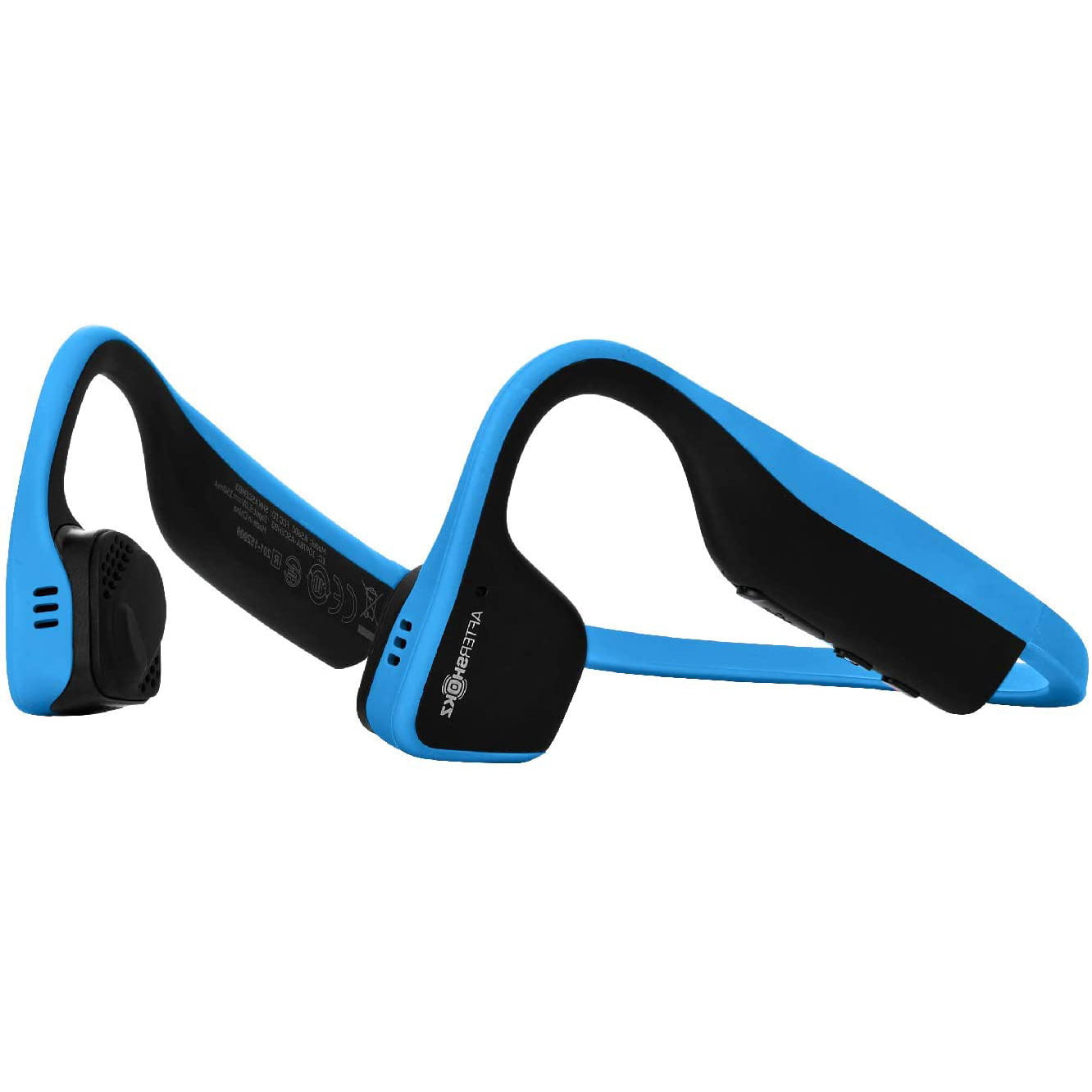 Casti Behind the Ear Aftershokz Titanium AS600, Conductie prin os, Wireless, Portable Case, IP55, Ocean Blue
