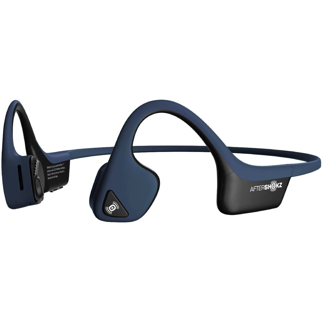 Casti Behind the Ear Aftershokz Trekz Air AS650, Conductie prin os, Wireless, Portable Case, IP55, Midnight Blue