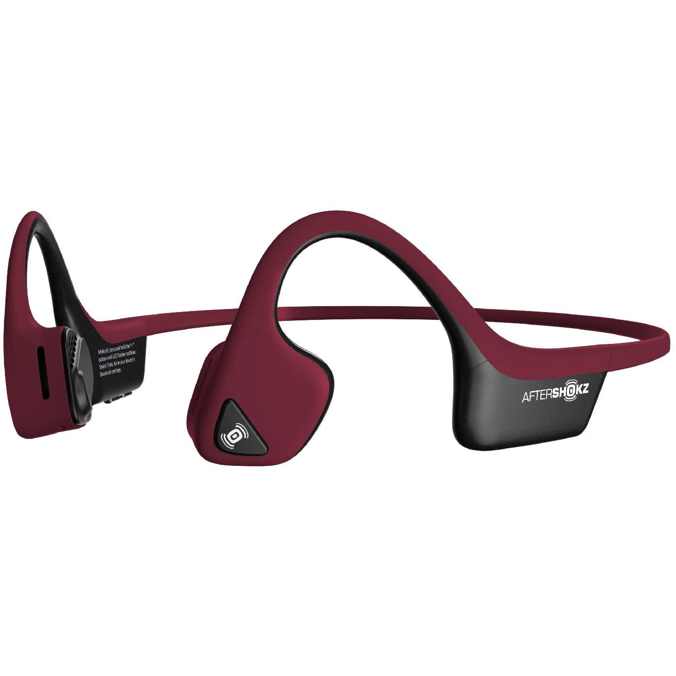Casti Behind the Ear Aftershokz Trekz Air AS650, Conductie prin os, Wireless, Portable Case, IP55, Canyon Red