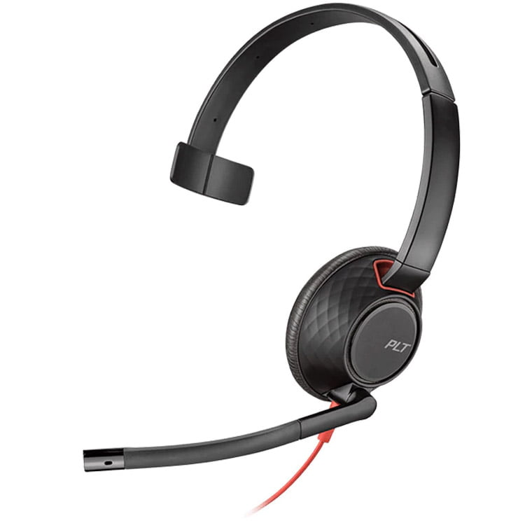 Casca Call Center Plantronics Blackwire 5210, C5210, USB-C, Monoaural, Black