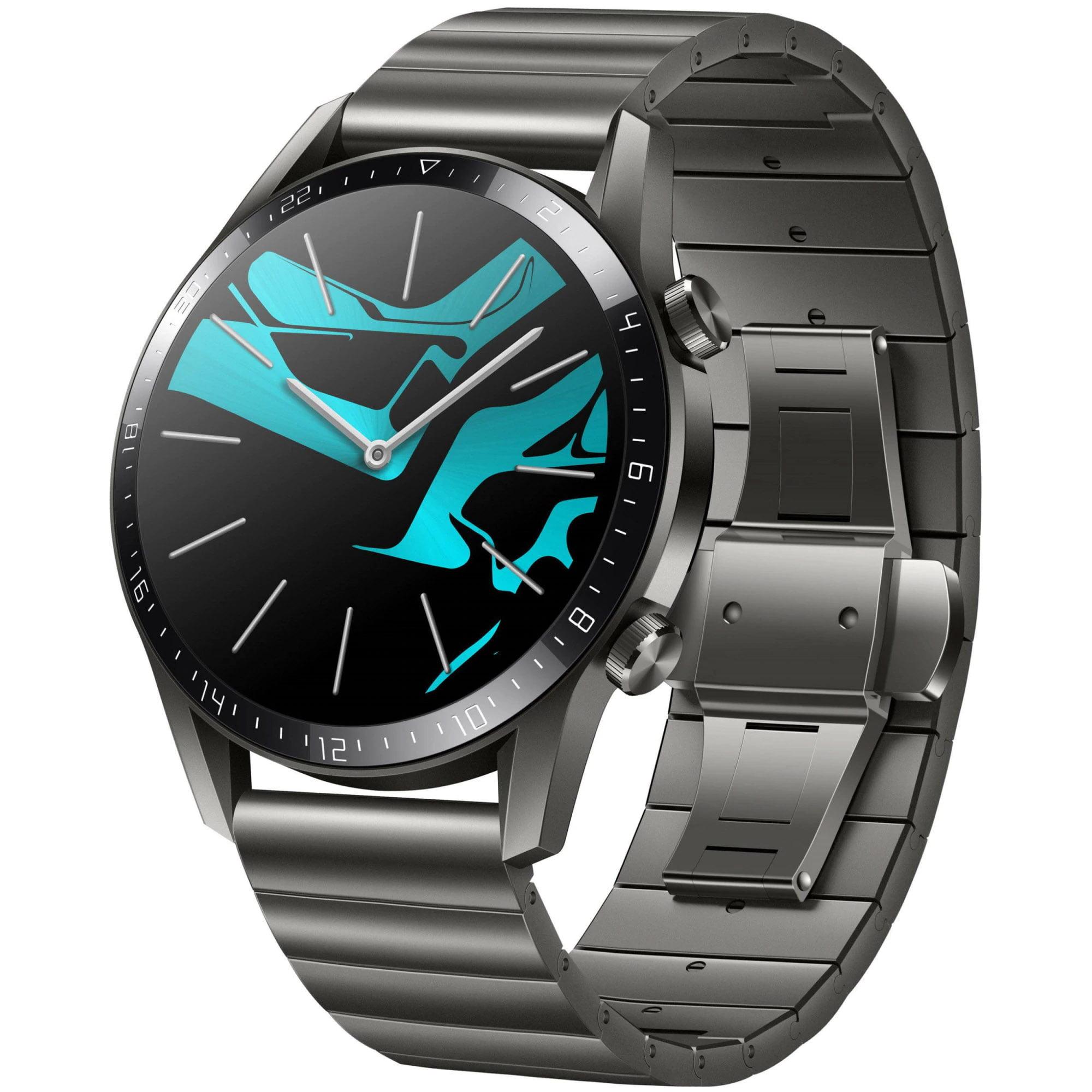Ceas Smartwatch Huawei Watch GT 2 Elite Edition, GPS, HR, 46mm, Metal Strap, Titanium Grey