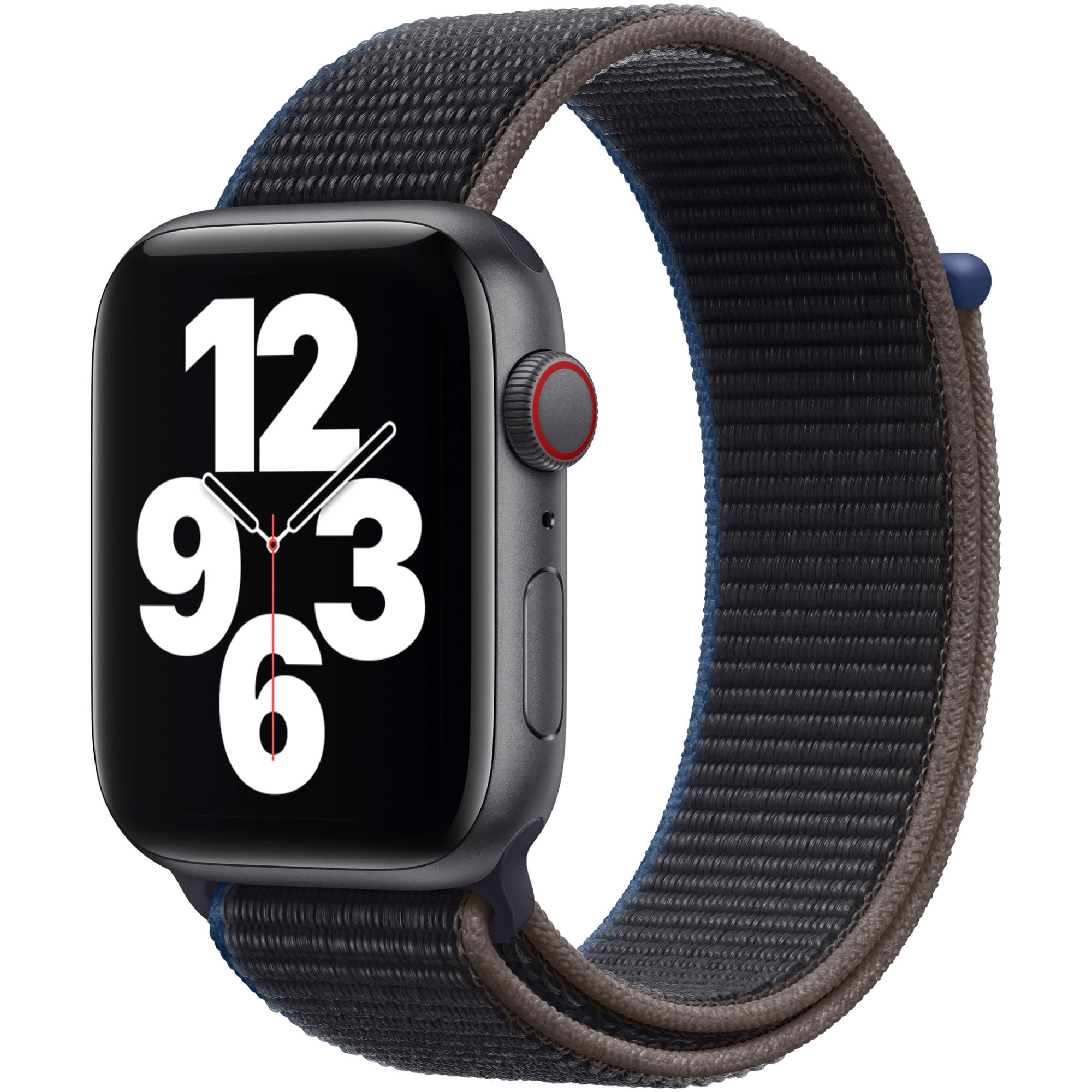 Ceas Smartwatch Apple Watch SE, GPS + Cellular, 44mm Space Grey Aluminium Case, Charcoal Sport Loop