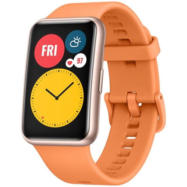 Ceas Smartwatch Huawei Watch Fit, GPS, HR, SpO2, Cantaloupe Orange