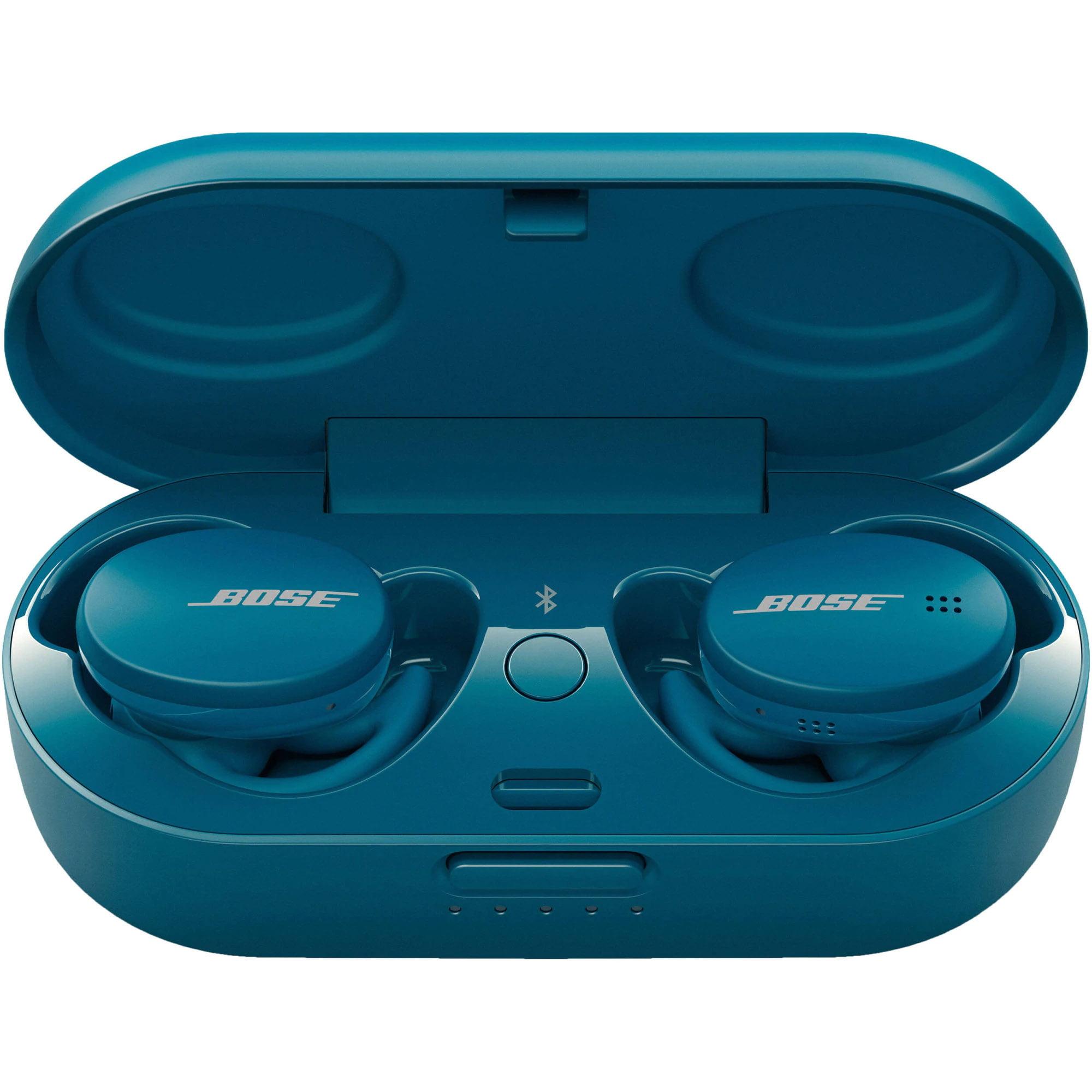 Casti In-Ear Bose Sport Earbuds, Bluetooth, Carcasa de incarcare, Baltic Blue