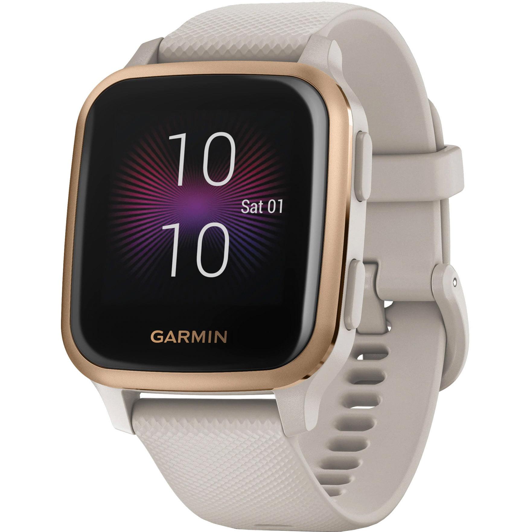Ceas Smartwatch Garmin Venu SQ Music Edition, 33 mm, GPS, Light Sand/ Rose Gold