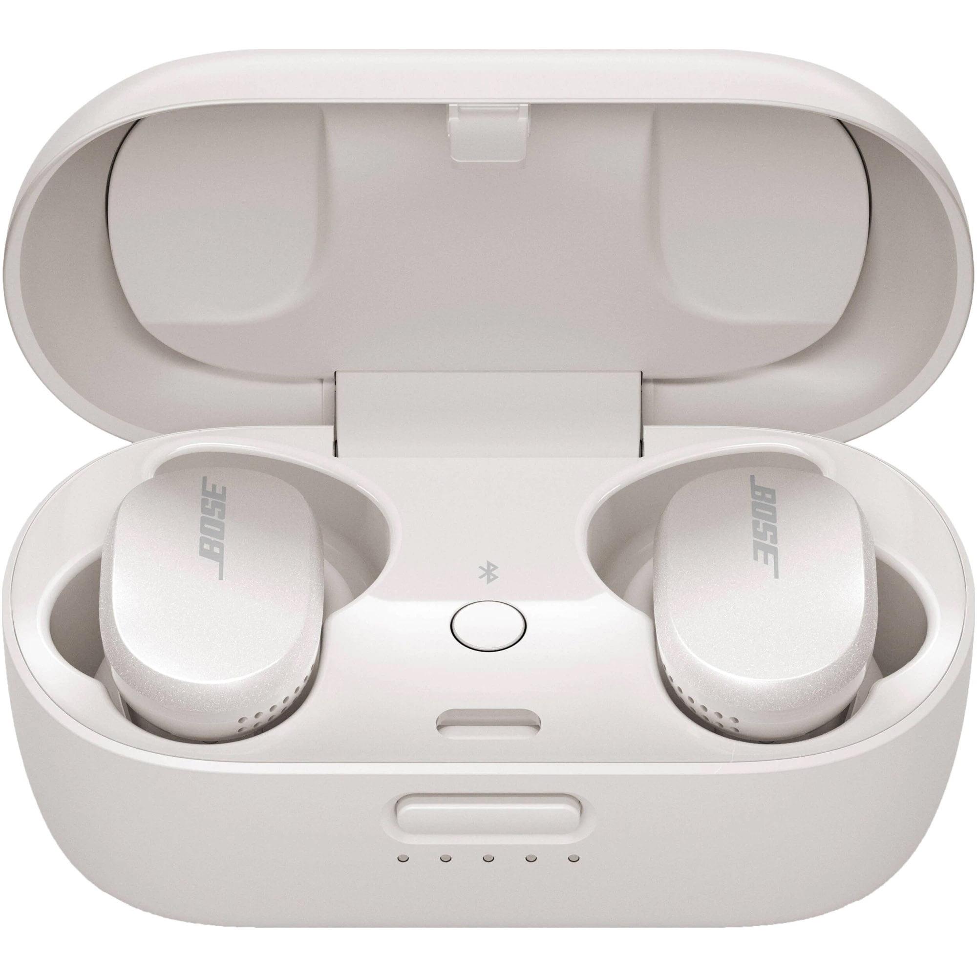 Casti In-Ear Bose QuietComfort, Bluetooth, Microfon, Noise Cancelling, Carcasa de incarcare, Soapstone