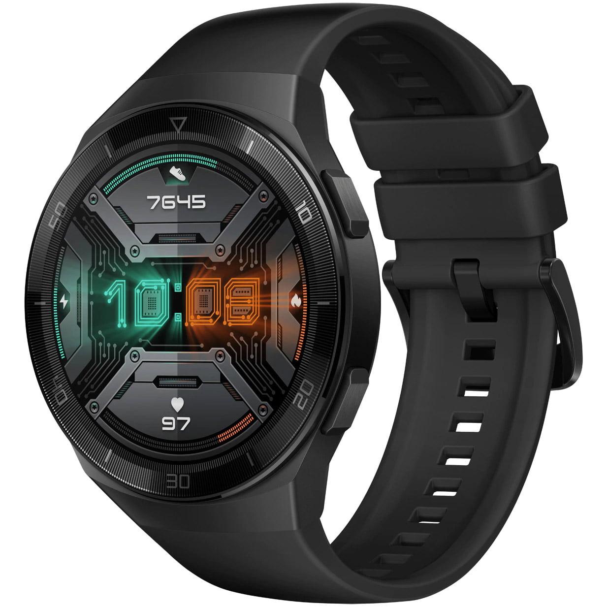 Ceas Smartwatch Huawei Watch GT 2e, GPS, SpO2, 46mm, Graphite Black