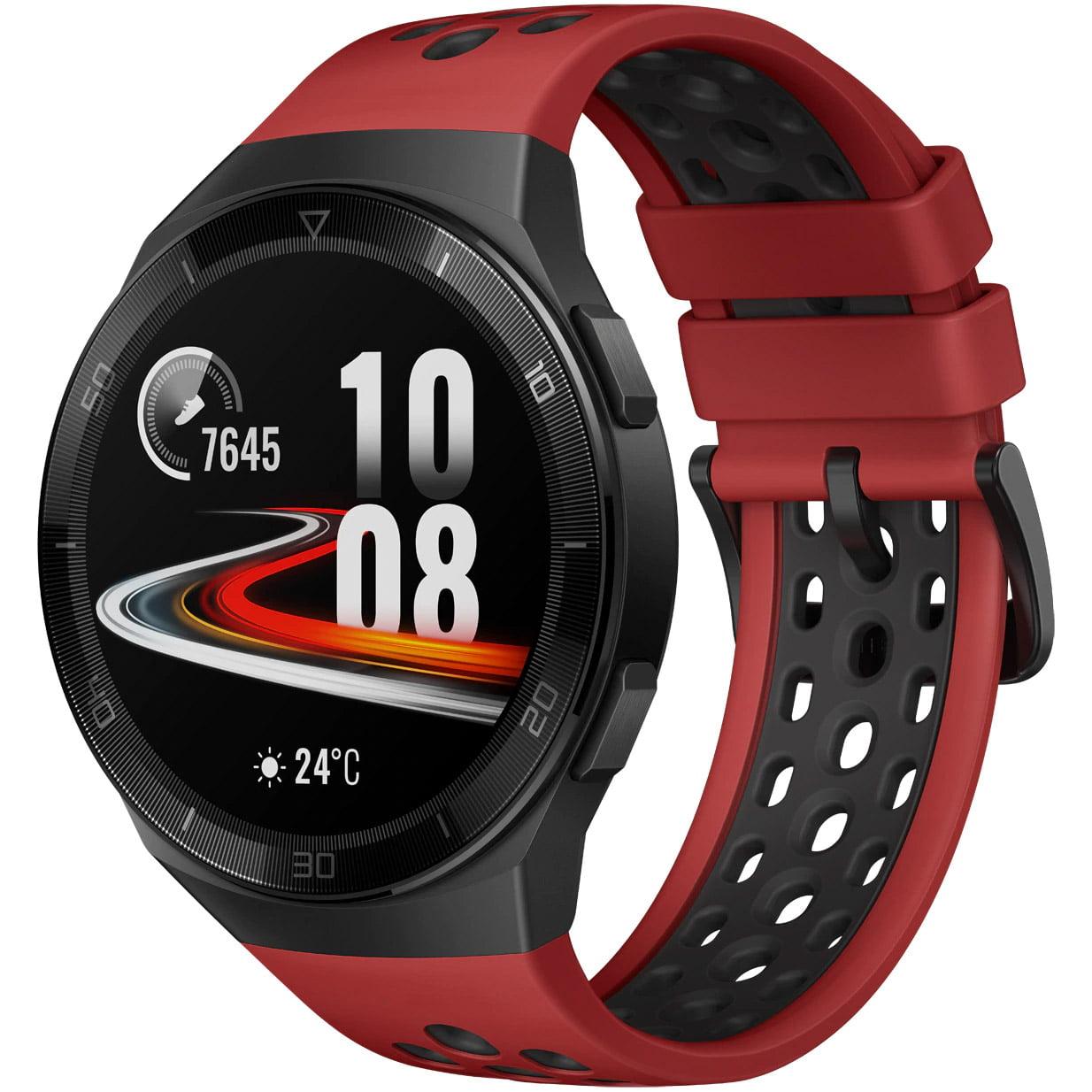 Ceas Smartwatch Huawei Watch GT 2e, GPS, SpO2, 46mm, Lava Red