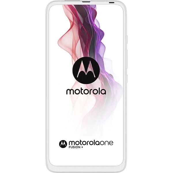 Telefon mobil Motorola One Fusion+, Dual SIM, 128GB, 6GB RAM, 4G, Moonlight White