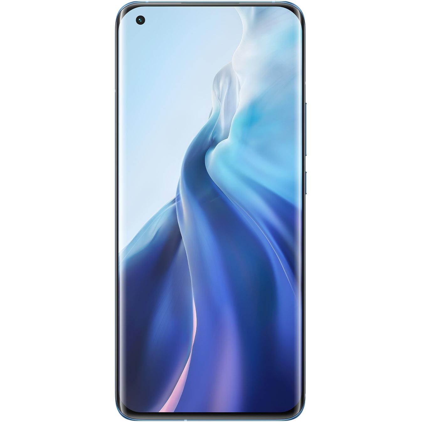 Telefon mobil Xiaomi Mi 11, Dual SIM, 256GB, 8GB RAM, 5G, Horizon Blue