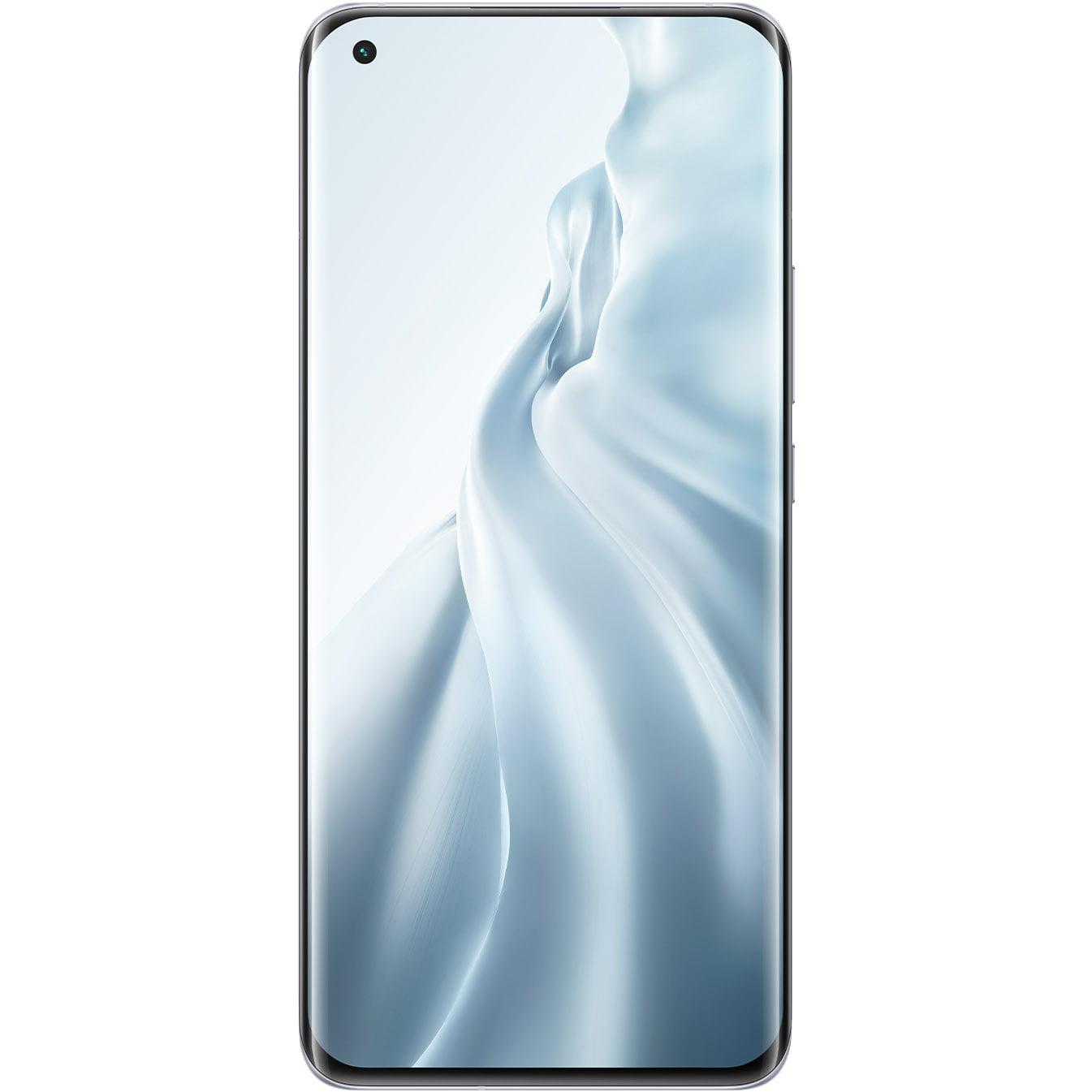 Telefon mobil Xiaomi Mi 11, Dual SIM, 128GB, 8GB RAM, 5G, Cloud White