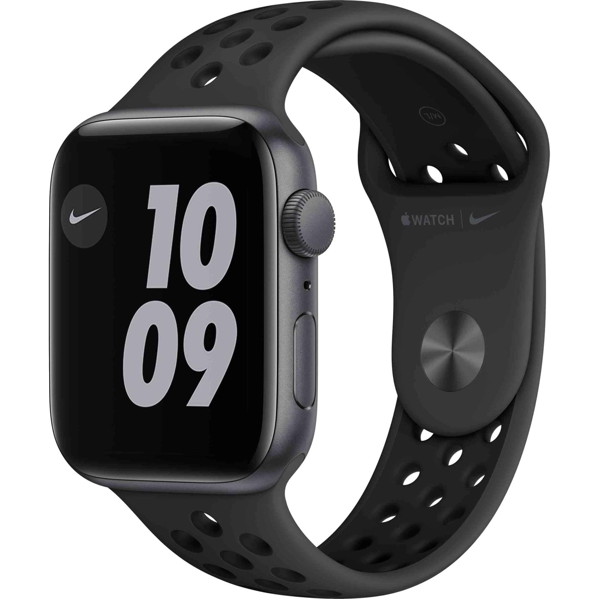 Ceas Smartwatch Apple Watch SE Nike, GPS, 44mm Space Gray Aluminium Case, Anthracite/ Black Nike Sport Band