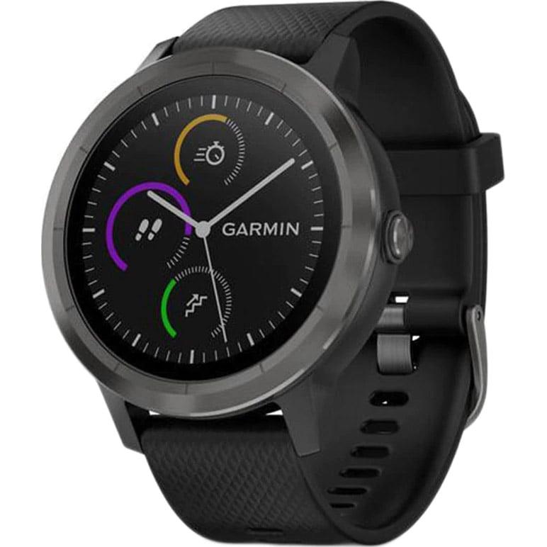 Ceas Smartwatch Garmin Vivoactive 3, 44 mm, HR, GPS, Slate, Silicone Black