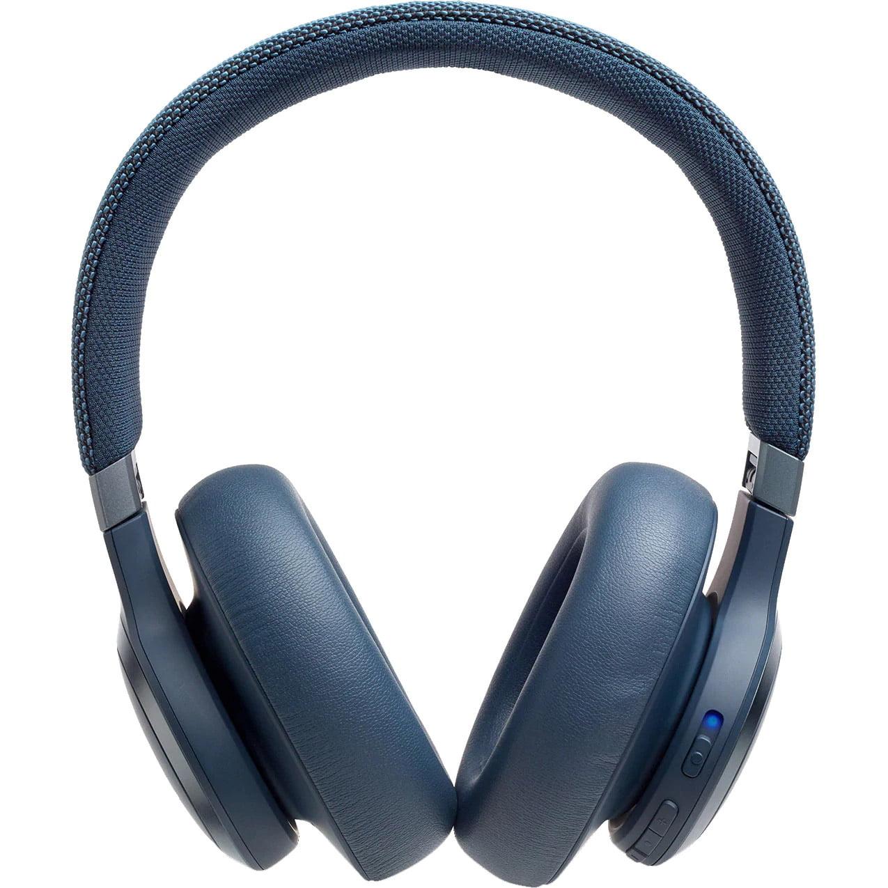 Casti audio Over-Ear JBL Live 650BTNC, Wireless, Bluetooth, JBL Signature Sound, Noise Cancelling, TalkThru Technology, 30h, Blue