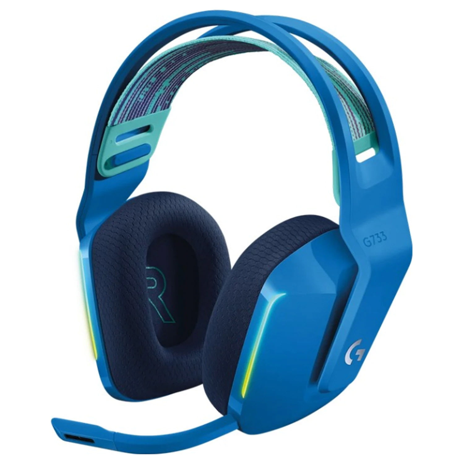 Casti audio Over-Ear Logitech G733, Gaming, Lightsync RGB, Surround Sound 7.1, Blue