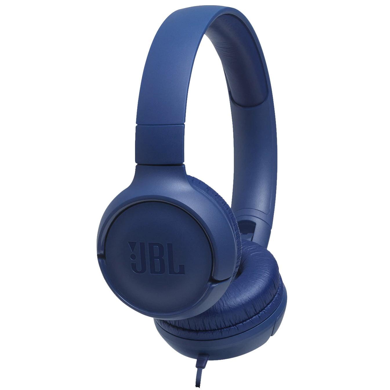 Casti audio On-Ear JBL Tune 500, Pure Bass Sound, Hands-free Call, Blue