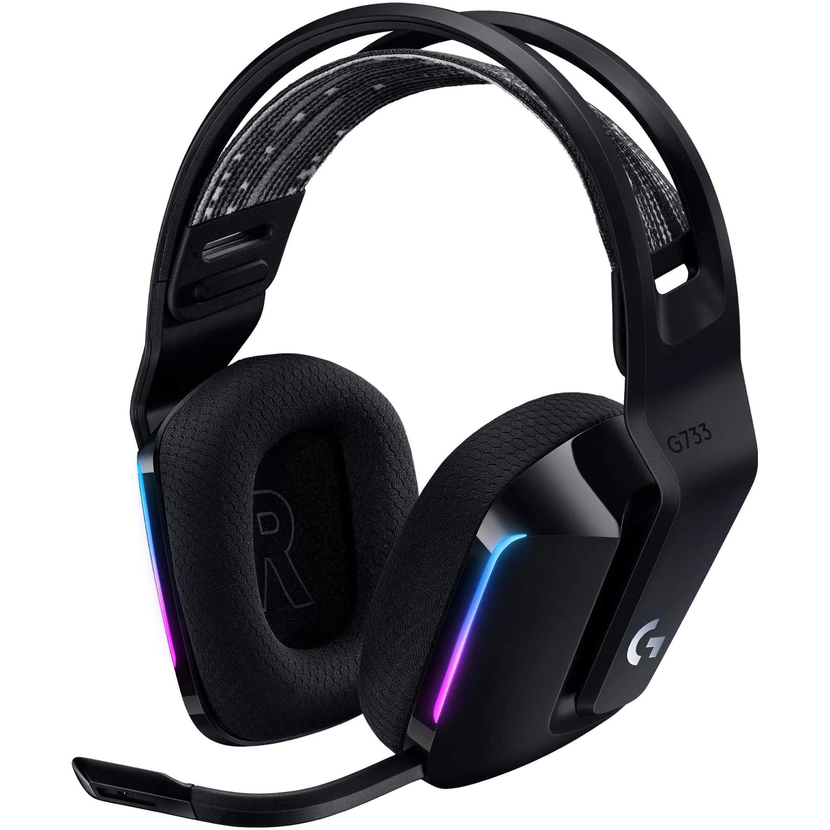 Casti audio Over-Ear Logitech G733, Gaming, Lightsync RGB, Surround Sound 7.1, Black